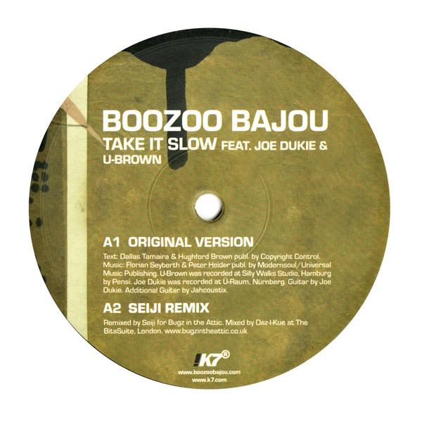 boozoo-bajou-joe-dukie-take-it-slow-seiji-mousse-t-remixes-used-vinyl-vg-sleeve-generic-k7-records-cover