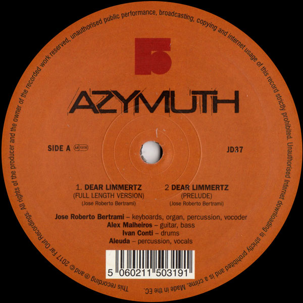 d7277d6f1bf8 AZYMUTH Dear Limmurtz   Maracana FAR OUT RECORDINGS - Vinyl Records  Specialists