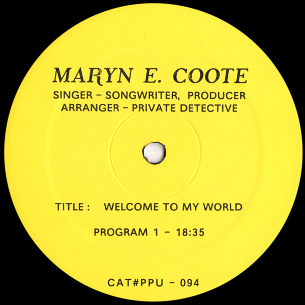 maryn-e-coote-welcome-to-my-world-lp-ppu-records-cover