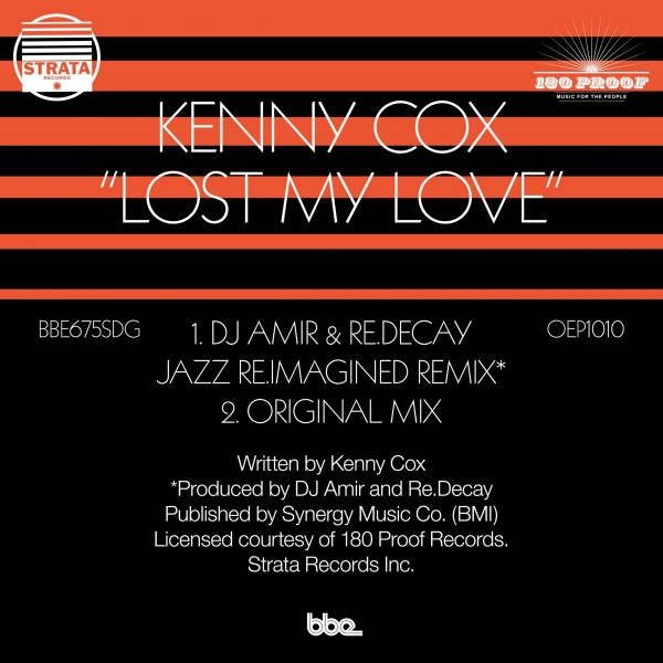 kenny-cox-lost-my-love-dj-amir-redecay-jazz-reimagined-remix-bbe-music-cover