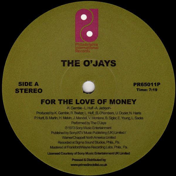 For the Love of Money / Darlin' Darlin' Baby (Sweet, Tender, Love)