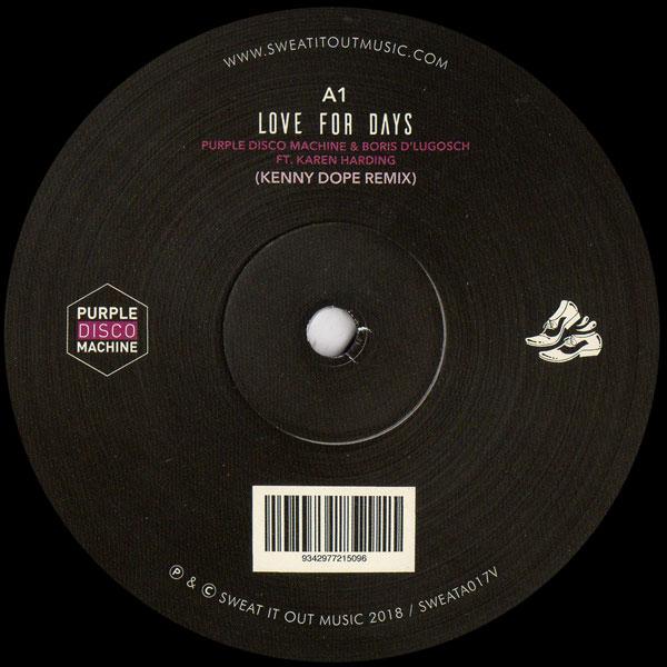 purple-disco-machine-boris-dlugosch-love-for-days-kenny-dope-remix-sweat-it-out-cover
