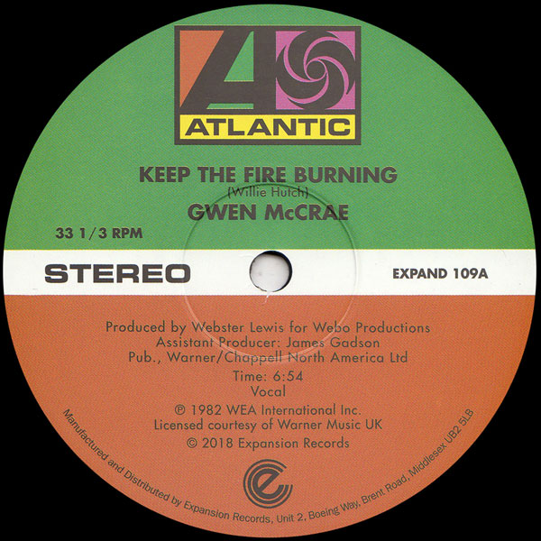Keep The Fire Burning / Funky Sensation (12inch version)