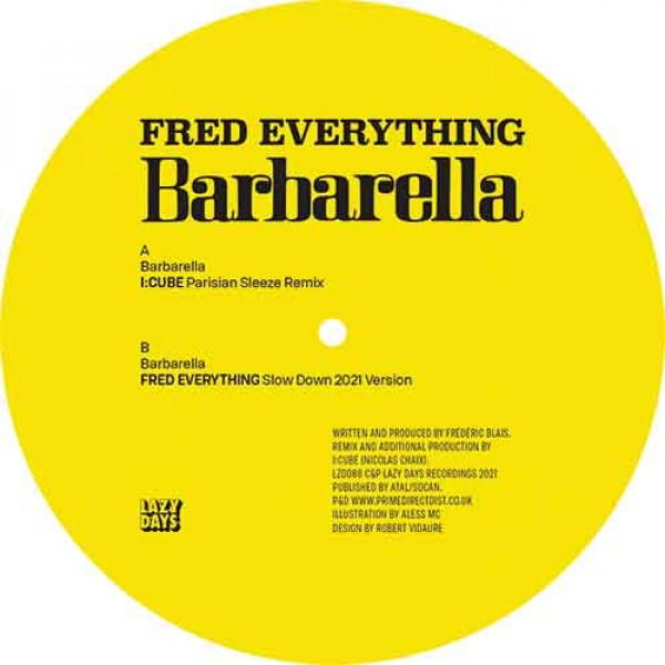 fred-everything-barbarella-icube-remix-lazy-days-cover