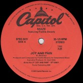 maze-joy-and-pain-capitol-records-cover