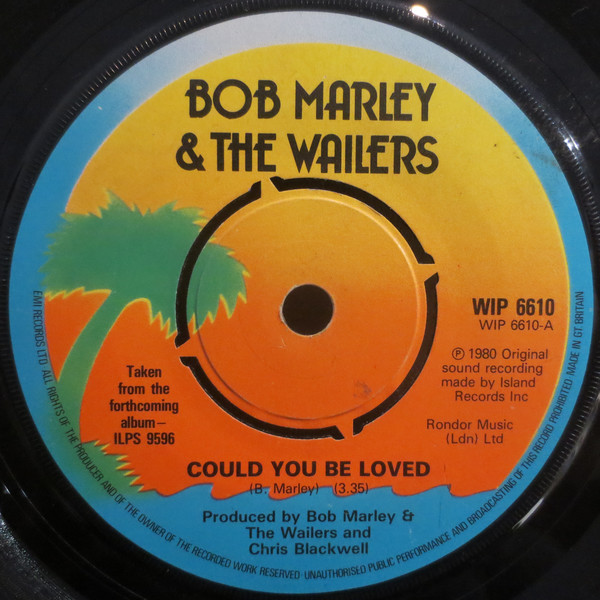 bob-marley-the-wailers-could-you-be-loved-used-vinyl-vg-sleeve-generic-island-records-cover