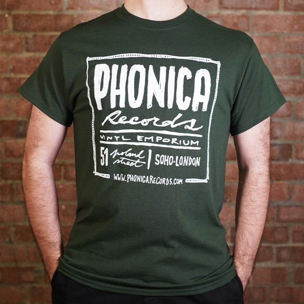 phonica-records-phonica-classic-forest-green-t-shirt-medium-phonica-merchandise-cover