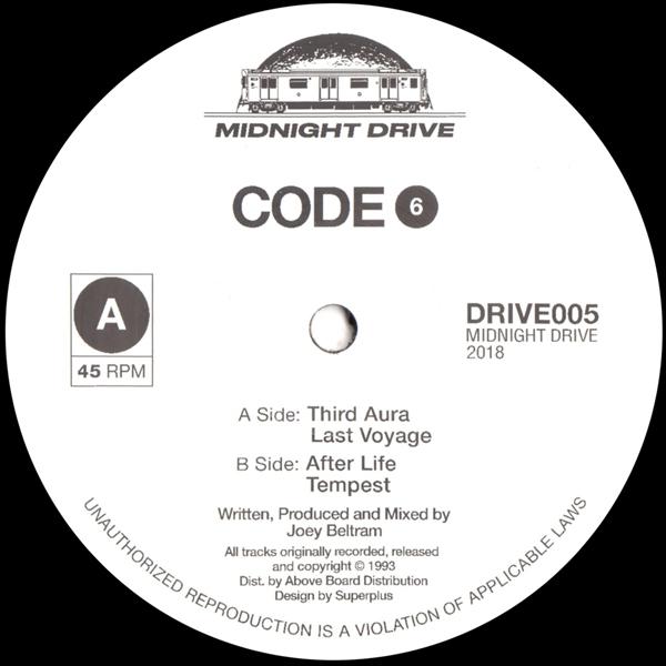 code-6-joey-beltram-third-aura-last-voyage-untitled-ep-midnight-drive-cover