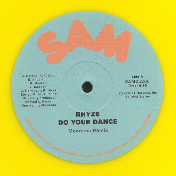 rhyze-do-your-dance-moodena-remix-yellow-vinyl-nervous-records-cover