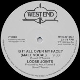 loose-joints-is-it-all-over-my-face-west-end-records-cover