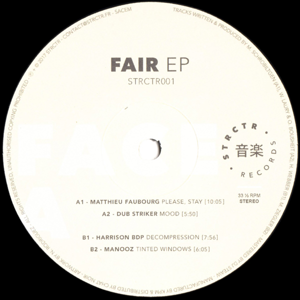 Harrison Bdp Matthieu Faubourg Various Artists Fair Ep