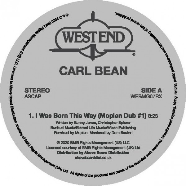 carl-bean-i-was-born-this-way-moplen-dubs-west-end-records-cover