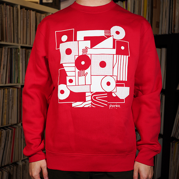 phonica-records-hands-and-sleeves-red-sweatshirt-x-large-phonica-merchandise-cover