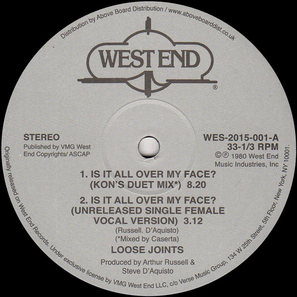 loose-joints-is-it-all-over-my-face-kon-edit-west-end-records-cover