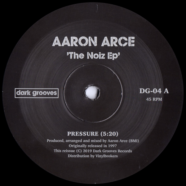 aaron-arce-the-noiz-ep-dark-groove-records-cover