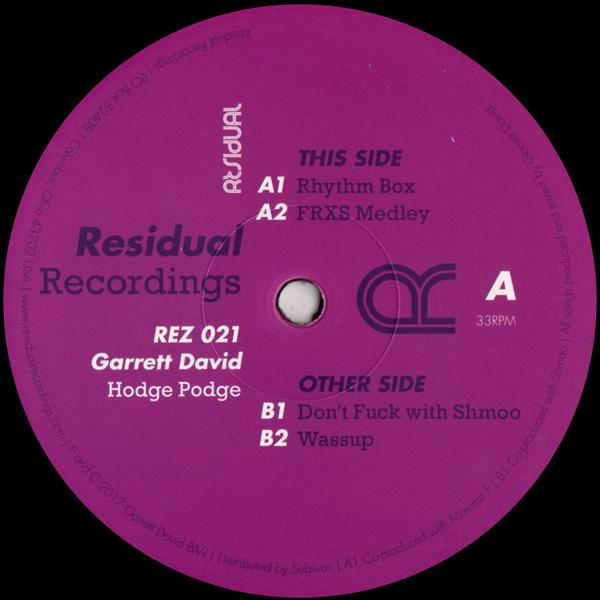 garrett-david-hodge-podge-used-vinyl-vg-sleeve-generic-residual-recordings-cover
