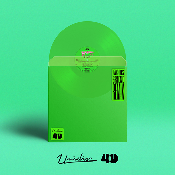 lime-jacques-greene-babe-were-gonna-love-tonight-green-vinyl-unidisc-cover