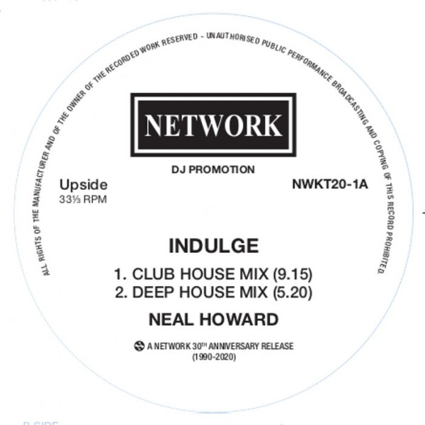 neal-howard-indulge-to-be-or-not-to-be-black-vinyl-network-records-cover