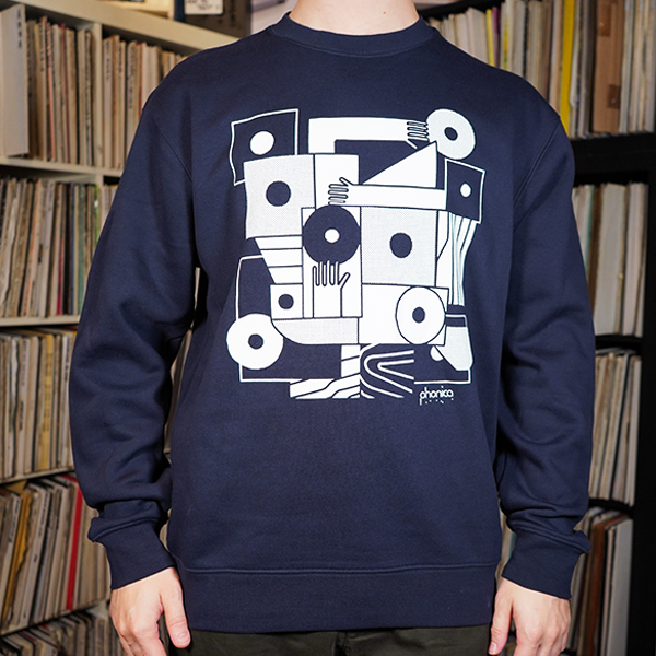 phonica-records-hands-and-sleeves-navy-sweatshirt-large-phonica-merchandise-cover