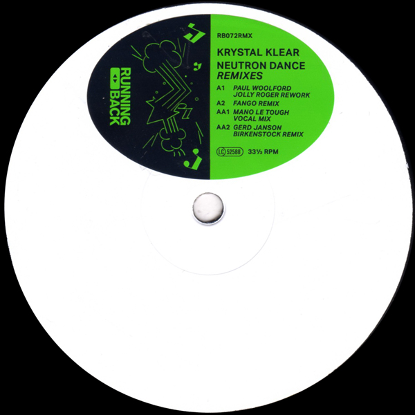 Neutron Dance Remixes (Paul Woolford / Fango / Mano le Tough / Gerd Janson)