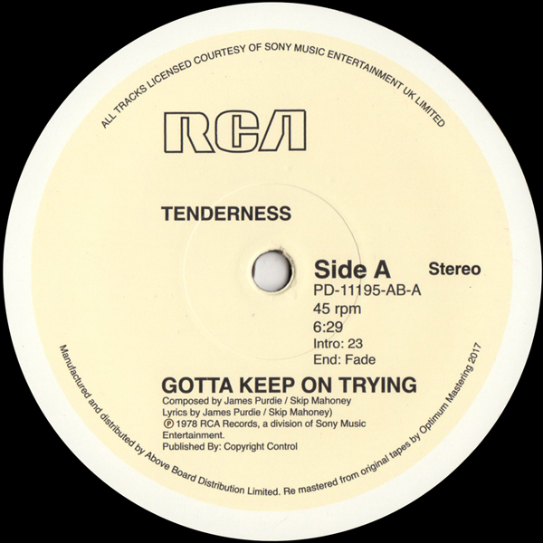 tenderness-gotta-keep-on-trying-rca-cover