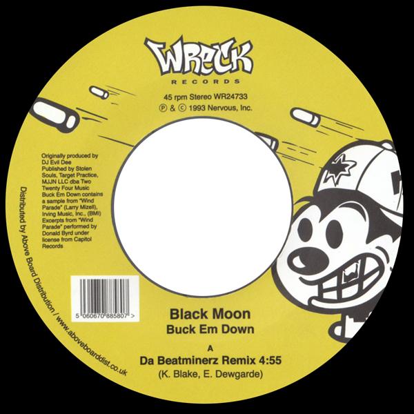black-moon-buck-em-down-da-beatminerz-remix-wreck-records-cover
