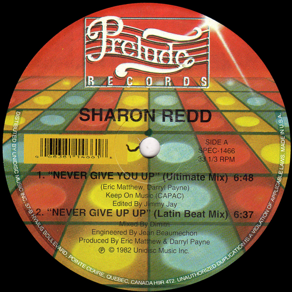 SHARON REDD/Can You Handle It? / In The Name of Love/UNIDISC