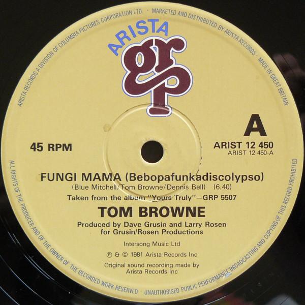 tom-browne-fungi-mama-funkin-for-jamaica-remix-used-vinyl-vg-sleeve-generic-arista-cover
