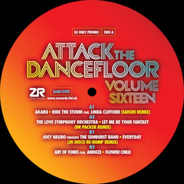 akabu-the-love-symphony-orchestra-joey-negro-the-sunburst-band-art-of-tones-attack-the-dancefloor-vol-16-z-records-cover