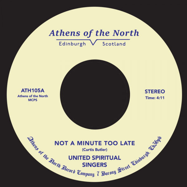 united-spiritual-singers-not-a-minute-too-late-athens-of-the-north-cover