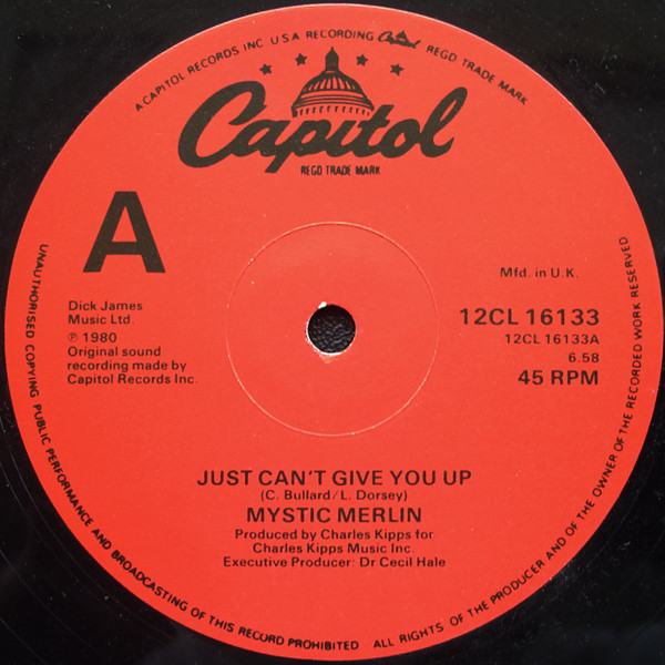 mystic-merlin-just-cant-give-you-up-used-vinyl-vg-sleeve-generic-capitol-records-cover
