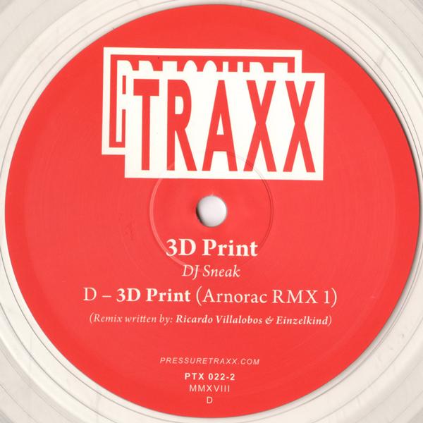dj-sneak-ricardo-villalobos-einzelkind-3d-print-arnorac-remix-1-instrumental-ltd-clear-vinyl-10inch-pressure-traxx-cover