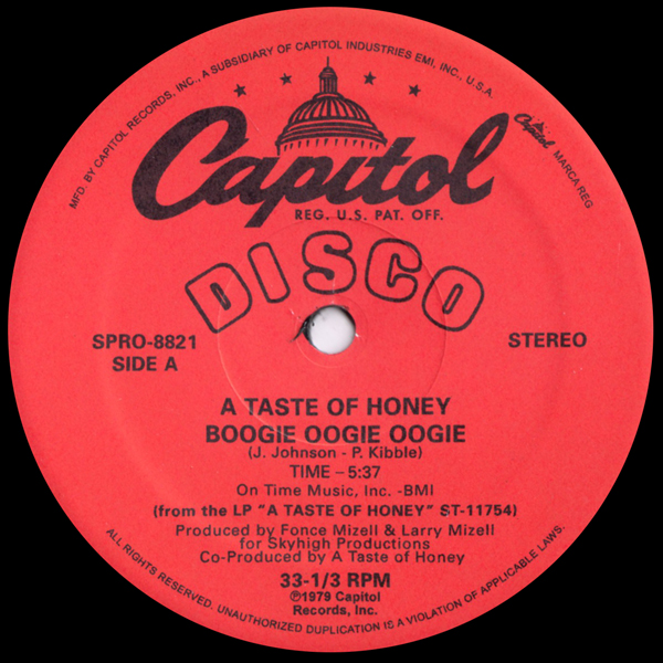 a-taste-of-honey-boogie-oogie-oogie-rescue-me-capitol-records-cover