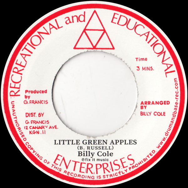 billy-cole-little-green-apples-mystic-mood-rock-a-shacka-cover