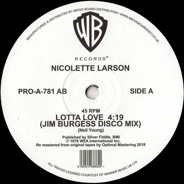 Nicolette Larson Lotta Love Jim Burgess Disco Mix Warner