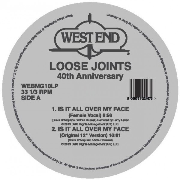 loose-joints-is-it-all-over-my-face-40th-anniversary-masters-at-work-kon-remixes-west-end-records-cover
