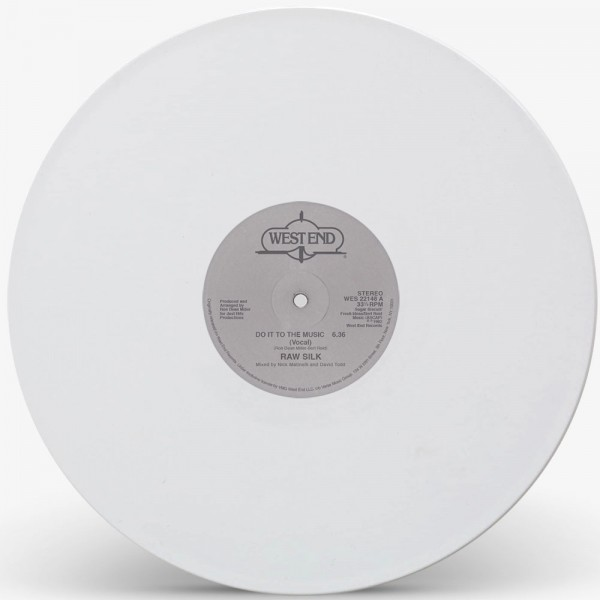 raw-silk-do-it-to-the-music-white-vinyl-repress-west-end-records-cover