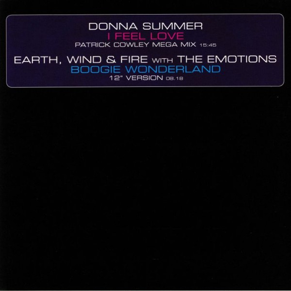 donna-summer-earth-wind-fire-i-feel-love-patrick-cowley-mega-mix-boogie-wonderland-universal-cover