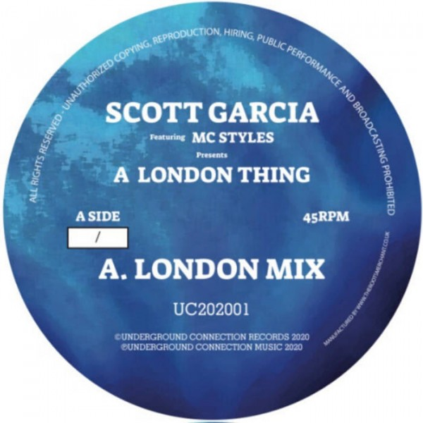 scott-garcia-a-london-thing-4-the-ladies-blue-white-marbled-vinyl-pre-order-underground-connection-records-cover