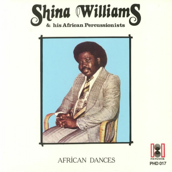 shina-williams-his-african-percussionists-african-dances-lp-mr-bongo-cover