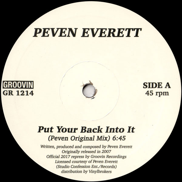 peven-everett-put-your-back-into-it-groovin-recordings-cover