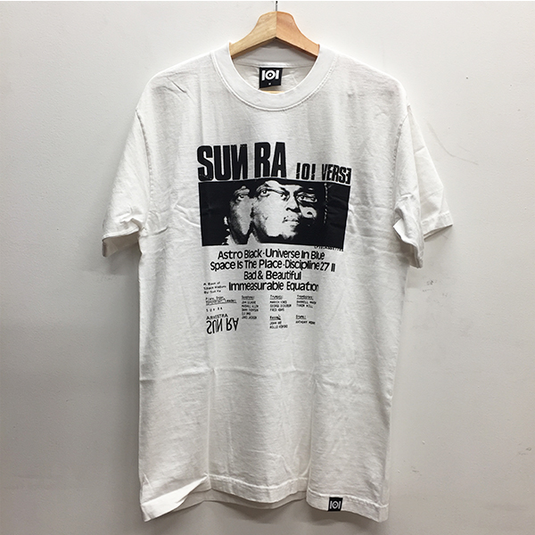 101 Apparel Sun Ra 101 Verse White T Shirt Medium 101