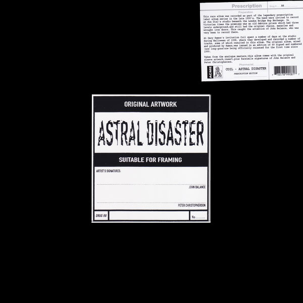 coil-astral-disaster-lp-yellow-vinyl-edition-prescription-uk-cover