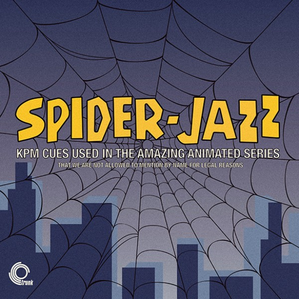 various-artists-spider-jazz-lp-kpm-cues-used-in-the-amazing-animated-series-lp-trunk-records-cover