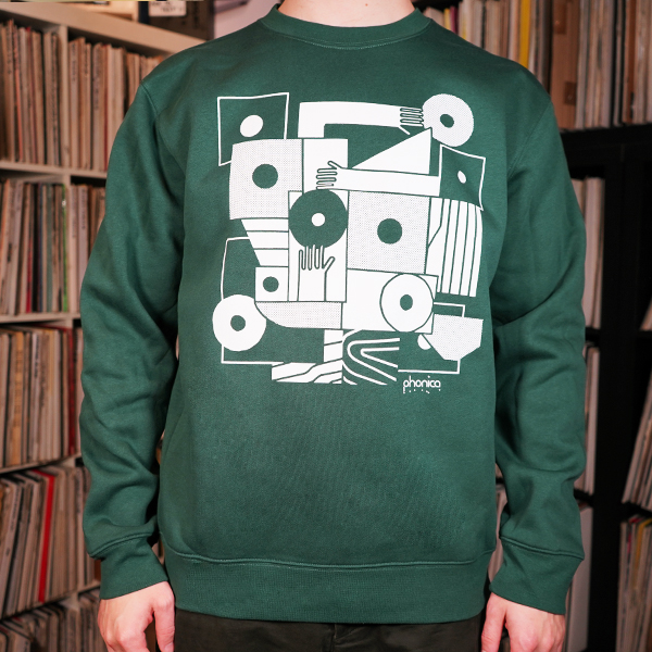 phonica-records-hands-and-sleeves-green-sweatshirt-small-phonica-merchandise-cover