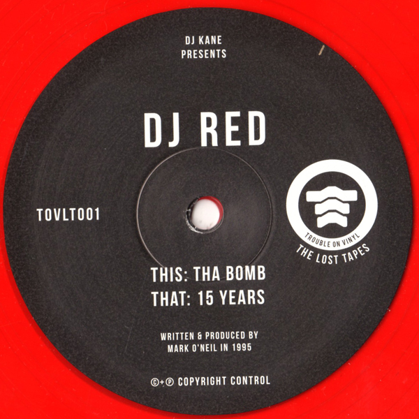 dj-red-tha-bomb-15-years-red-vinyl-trouble-on-vinyl-cover