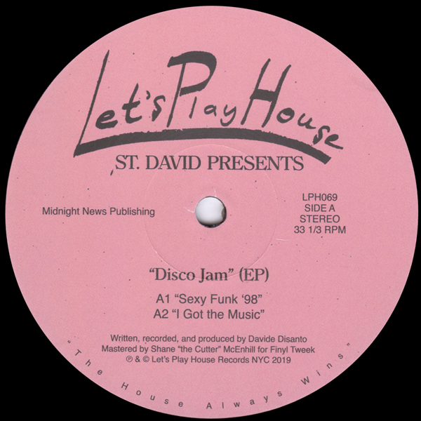 st-david-disco-jam-lets-play-house-cover