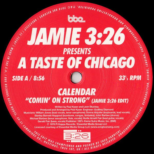 A Taste Of Chicago Comin On Strong Stomps Shouts